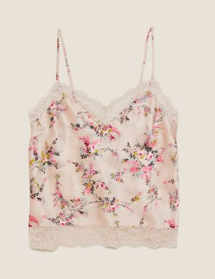 Silk Ditsy Rose Camisole