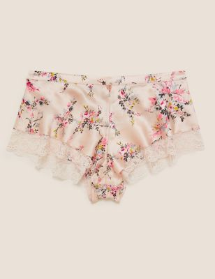 Silk & Lace Floral French Knickers