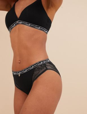Ribbed High Leg Lounge Knickers