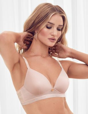 Ribbed Lounge Non-Wired Plunge Bra A-E