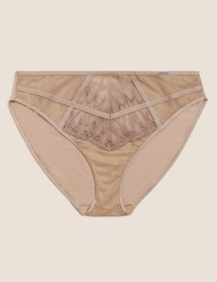 Nouveau Embroidered High Leg Knickers