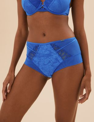 Nouveau Embroidered High Rise Shorts