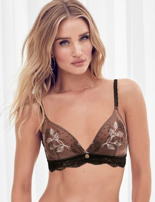 Placement Embroidery Non Wired Bralette