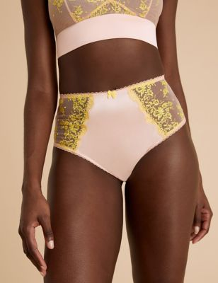 Blossom Embroidered Brazilian Knickers