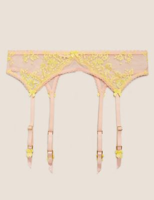 Blossom Embroidered Suspenders