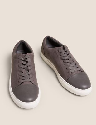 Suedette Lace-Up Trainers