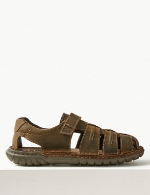 Leather Riptape Fisherman Sandals