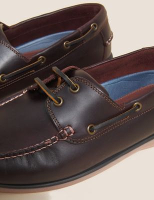 Wide Fit Leather Boat Shoes