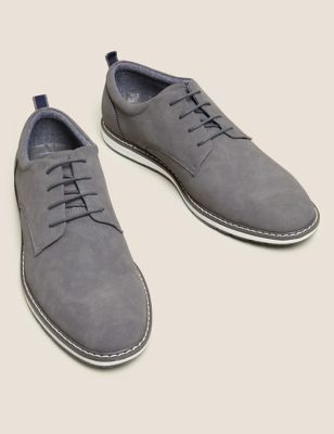 White Sole Derby Shoes