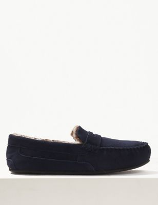 Big & Tall Suede Slippers with Freshfeet™