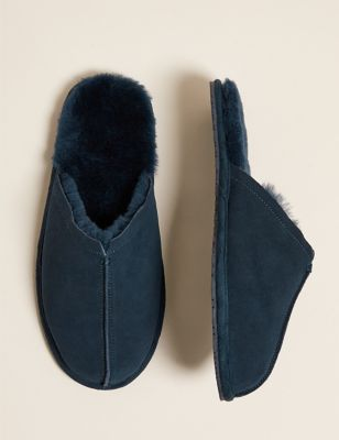 Suede Mule Slippers with Freshfeet™