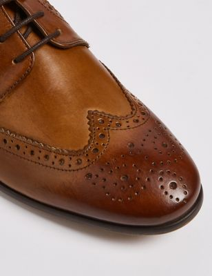 Wide Fit Leather Brogues