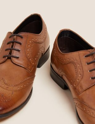 Leather Almond Toe Brogues