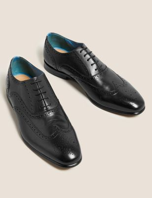 Leather Embossed Sole Brogues