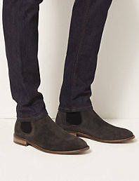 ce6e52ff98d Big & Tall Leather Pull-on Chelsea Boots | M&S Collection | M&S