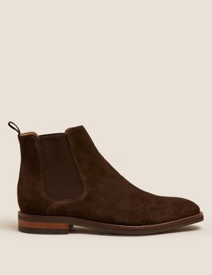 Suede Pull-On Chelsea Boots