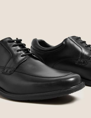 Wide Fit Leather Derby Shoes