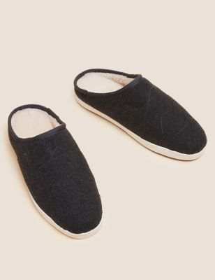 Fleece Mule Slippers with Freshfeet™