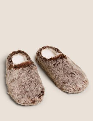 Fleece Lined Mule Slippers with Freshfeet™