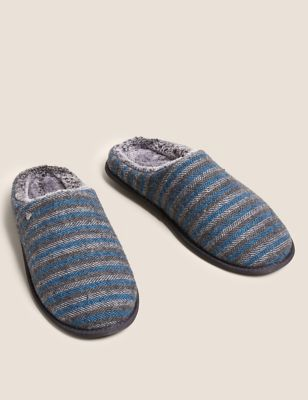 Striped Mule Slippers with Freshfeet™