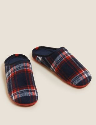 Checked Mule Slippers with Freshfeet™