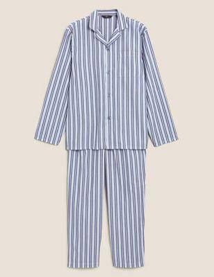 Cotton Striped Pyjama Set