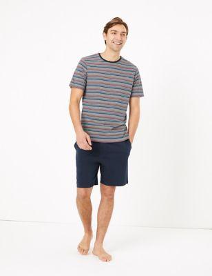 Pure Cotton Striped Pyjama Short set