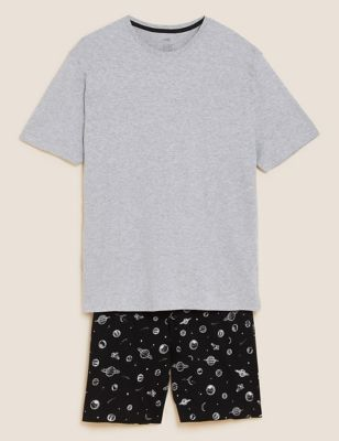 Pure Cotton Space Print Pyjama Set
