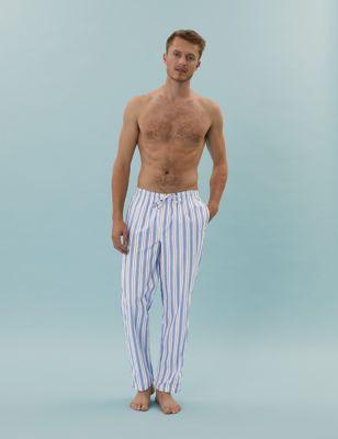 2 Pack Pure Cotton Pyjama Bottoms