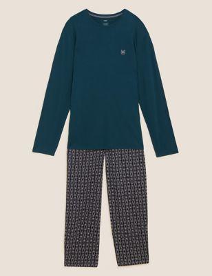 Pure Cotton Bear Print Pyjama Set