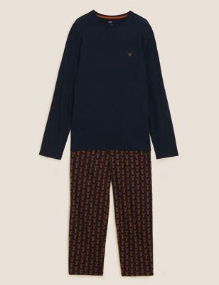 Pure Cotton Stag Print Pyjama Set