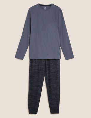 Cotton Marl Effect Pyjama Set