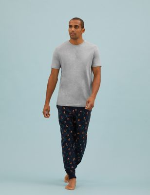 Supersoft Fox Print Pyjama Set