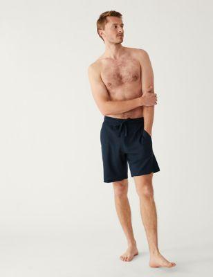 Cotton Supersoft Waffle Loungewear Shorts