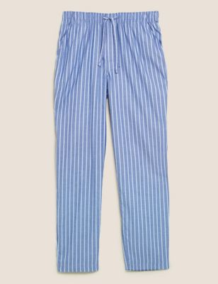 Cotton Striped Loungewear Bottoms