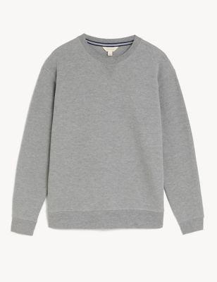 Cotton Supersoft Waffle Loungewear Sweatshirt