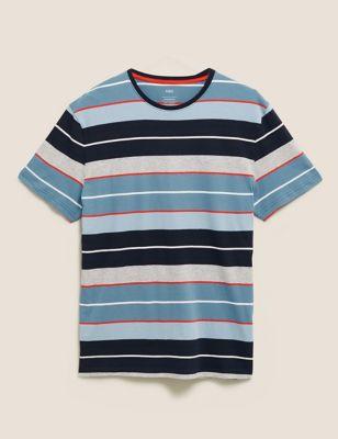 Pure Cotton Striped Loungewear Top