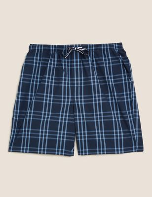 Pure Cotton Checked Loungewear Shorts