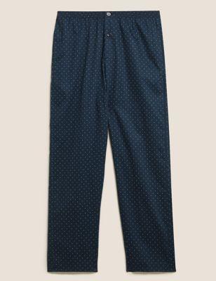 Pure Cotton Polka Dot Pyjama Bottoms