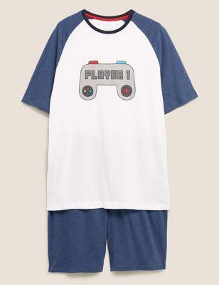 Pure Cotton Player 1 Print Pyjama Set