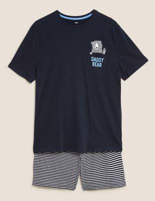 Pure Cotton Daddy Bear Graphic Pyjama Set