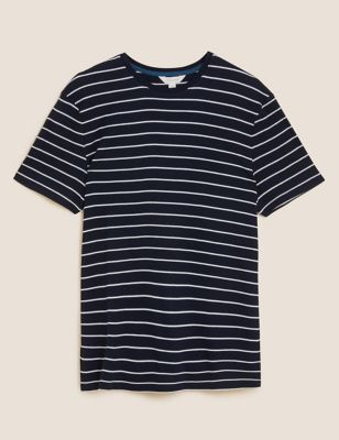 Cotton Supersoft Striped Loungewear Top