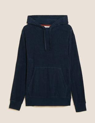 Pure Cotton Towelling Hoodie