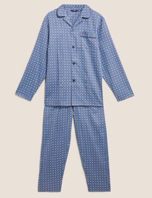 Pure Cotton Mosaic Print Pyjama Set