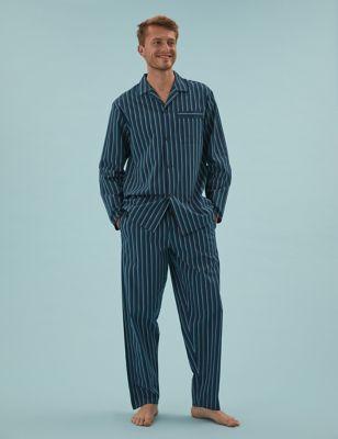 Pure Cotton Shadow Stripe Pyjama Set