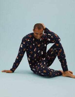 Pure Cotton Pet Print Pyjama Set