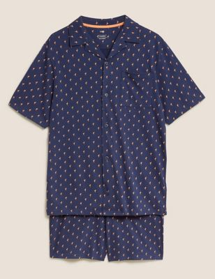 Pure Cotton Jersey Printed Pyjama Set
