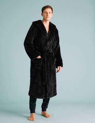 Fleece Supersoft Hooded Dressing Gown