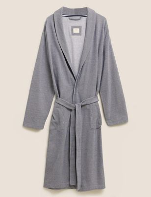 Pure Cotton Jersey Dressing Gown