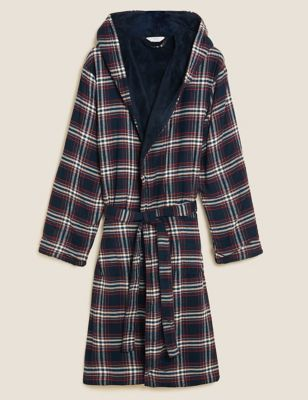 Fleece Supersoft Checked Dressing Gown